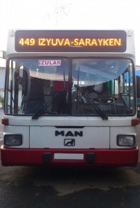 otobüs levha panel numara güzergah p10 izulaş